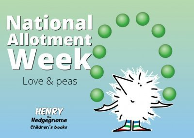 Children's books | Henry the Hedgegnome | Allotment week - peas