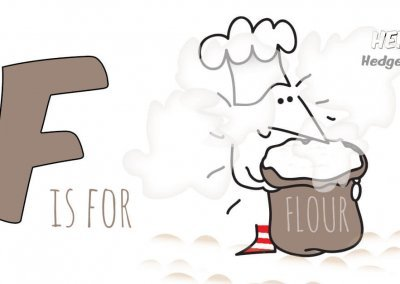 Children's books | Henry the Hedgegnome | F is for Flour