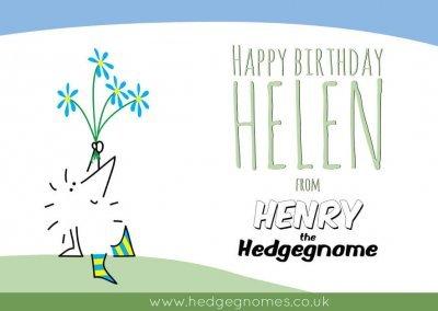 Children's books   Henry the Hedgegnome   Happy birthday Helen