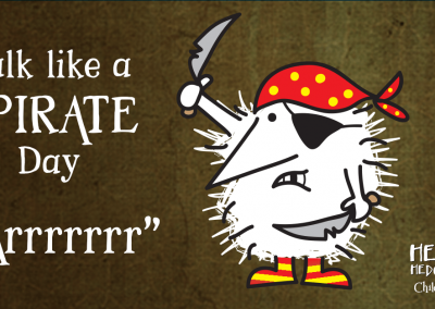 Children's books | Henry the Hedgegnome | Talk like a pirate Day