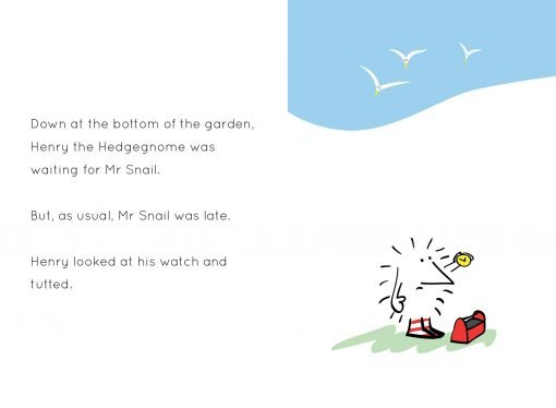 Henry the Hedgegnome has a busy day - spread 1 watch