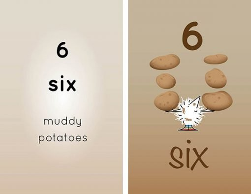 Children's books | Henry the Hedgegnome loves numbers 6 potatoes