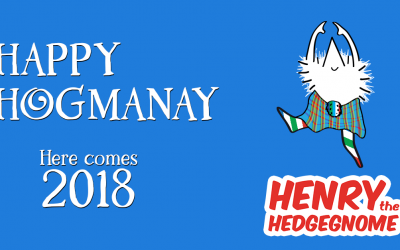 Happy Hogmanay from your favourite hog. Here comes 2018.