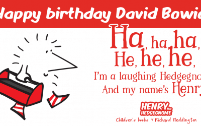 Remembering the laughing gnome. Happy birthday David Bowie.